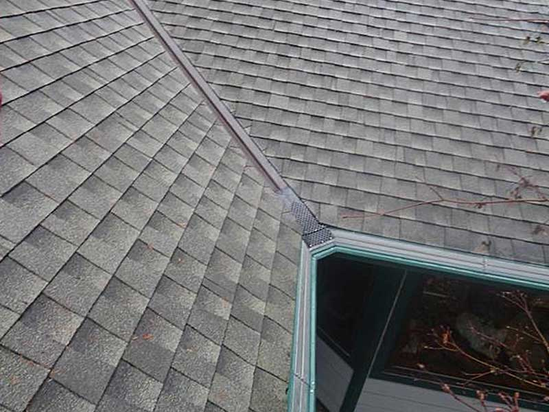The roof and gutters in Anacortes, Washington are both clean and tidy