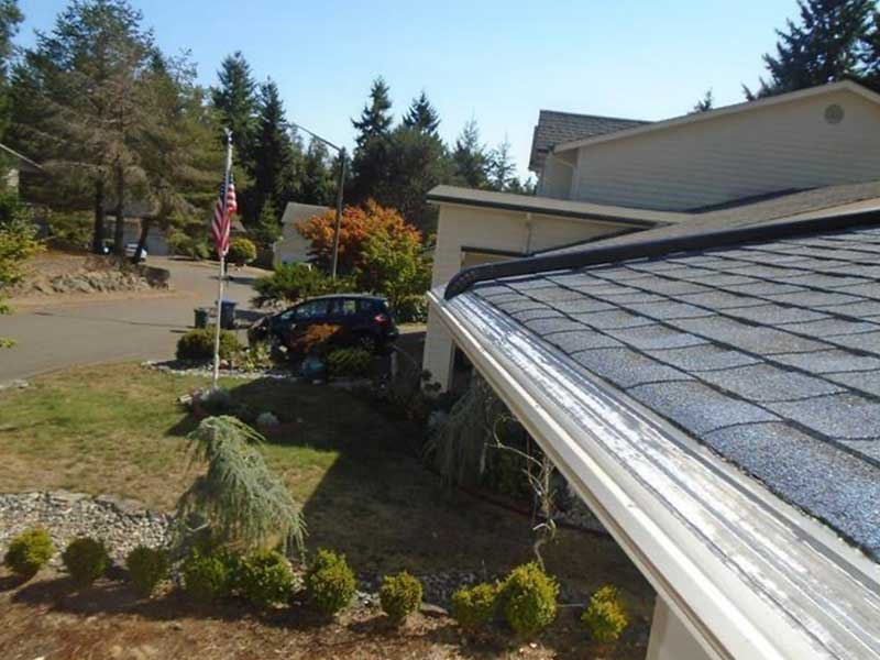 MasterShield gutter system expertly installed in Silverdale, WA.