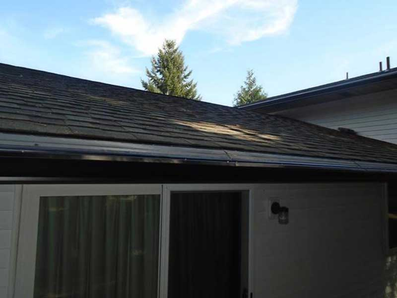 Now that all the rot has been removed and new fascia, gutters, and MasterShield have been installed, the homeowner has peace of mind knowing that their home is now free of rot and they will not have have to climb up to clean their gutters ever again!