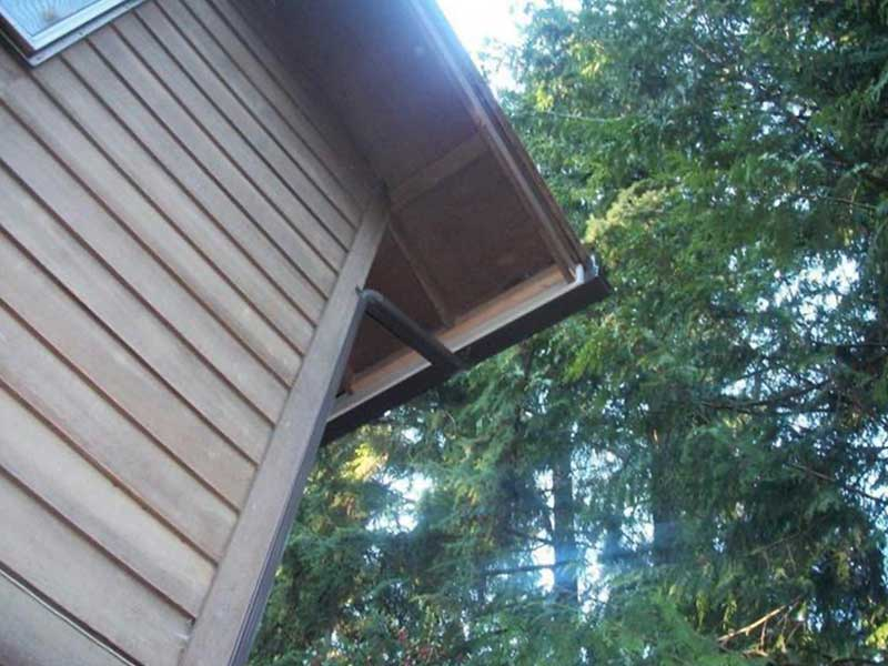New musket brown downspout installed in Auburn.