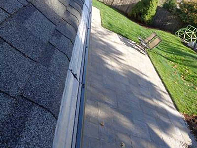 Beautiful new gutter outfitted with MasterShield Gutter Guards.
