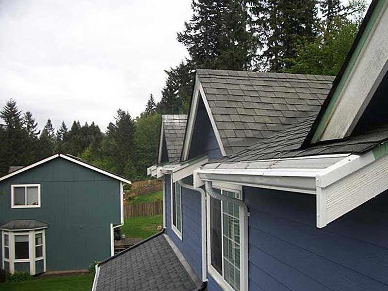New gutters were installed, as well as, the MasterShield gutter protection system in University Place, Washington