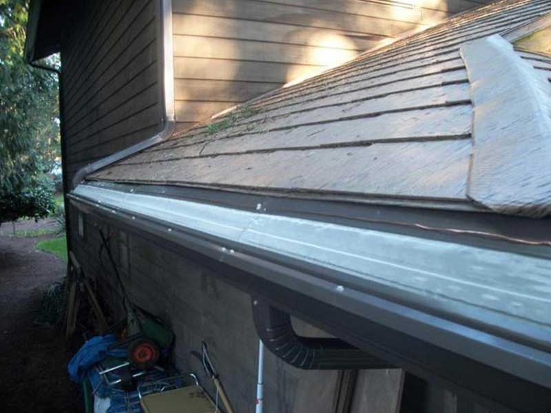 New musket brown MasterShield and gutters