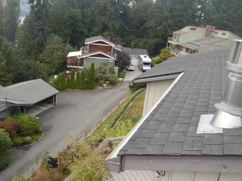Now there will be no more worry about clogged gutters on this Kenmore, WA home!