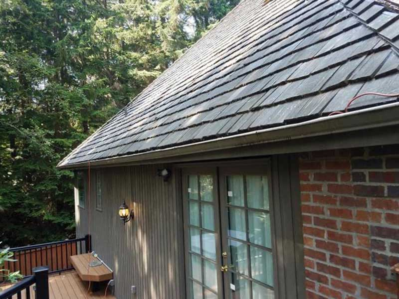 Traditional gutters were no match for the leaves and needles.