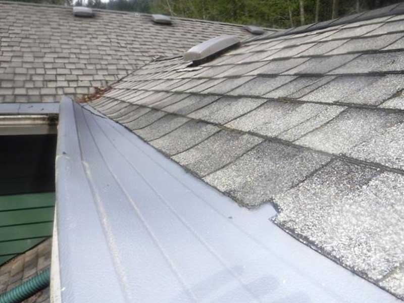Damage caused by the installation of Gutter Helmet