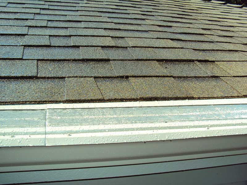 composite roof with gutter guard