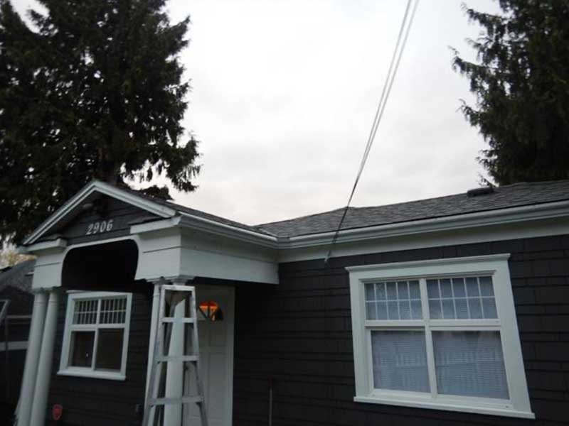 All fixed! New gutters, downspouts, and MasterShield will now keep this adorable home free from rot!