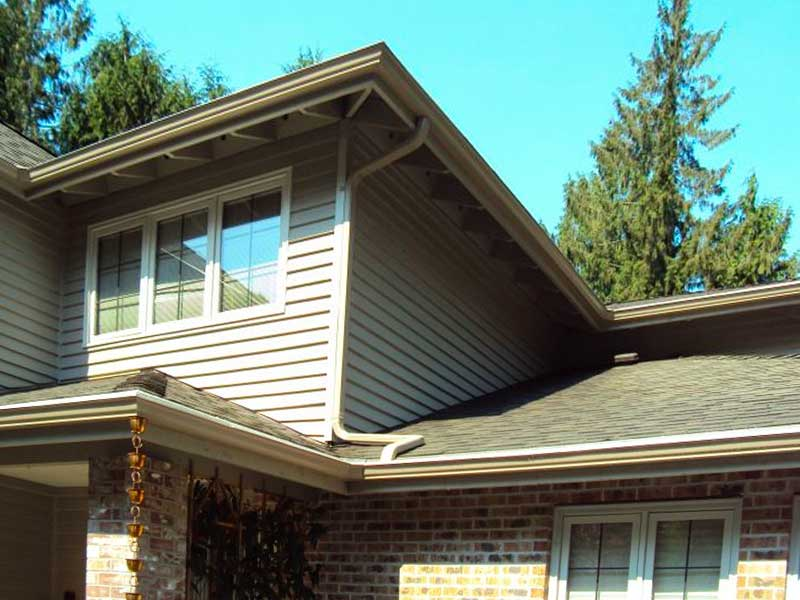 Roof with gutter system