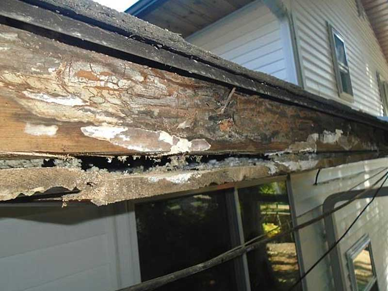 After removing the LeafGuard, we saw all the rotten fascia