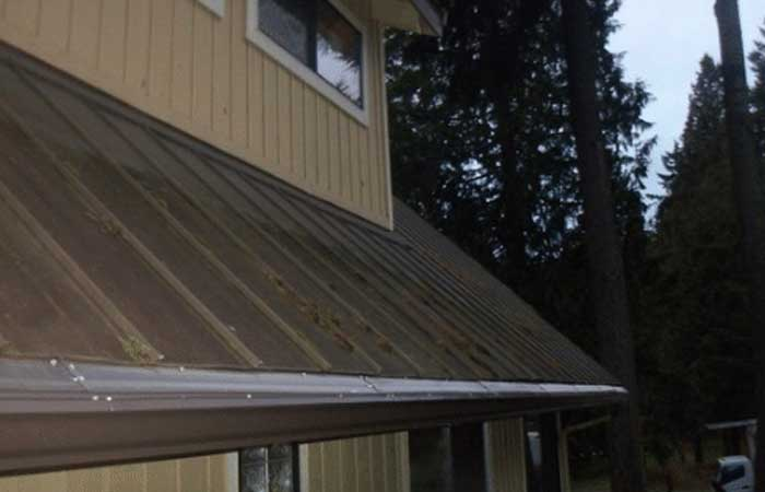 completed gutter installation