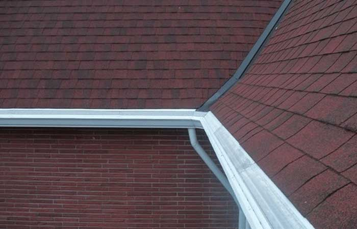 composition roof gutter replacement