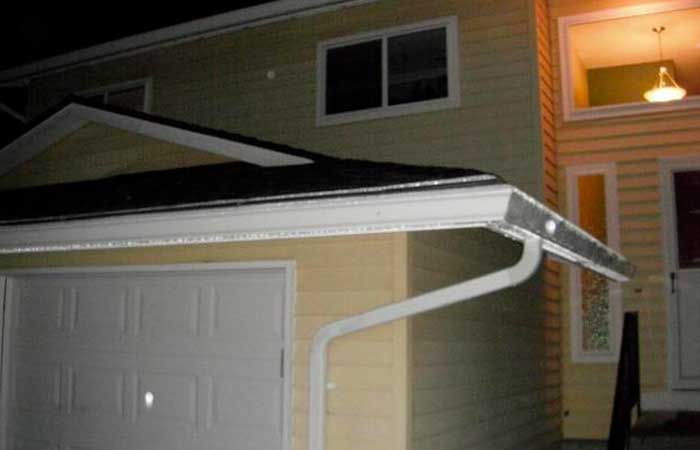 fully repaired gutter system